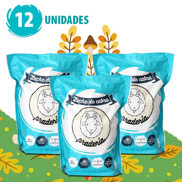Leche de Cabra Pradería Promoción 12 Unidades